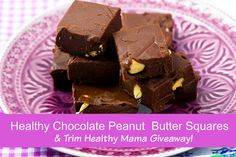 A Wise Woman Builds Her Home: Healthy Chocolate Peanut Butter Squares {& Trim Healthy Mama Giveaway!}