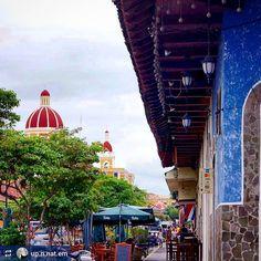 http://OkGranada.com #Follow @up.n.nat.em: Lovely Calle La Calzada #Granada #Nicaragua #ILoveGranada #AmoGranada #Travel #CentralAmerica #GranadaNicaragua #bucketlist