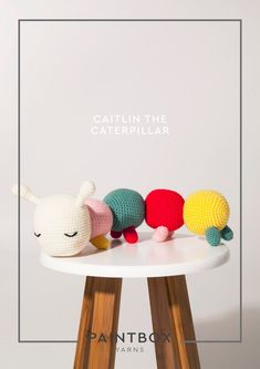Caitlin the Catepillar in Paintbox Yarns Downloadable PDF  #amigurumi #crochetpattern #crochet #crochettoys #pattern