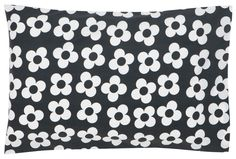 Big charcoal flower pillowcase - castle and things