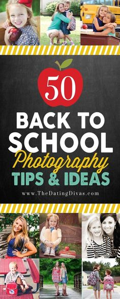 So many awesome tips and ideas for back to school photos! Perfect for first day of school photos and back to school photography photo shoots #backtoschool #backtoschoolphotography #firstdayofschoolpics #photography #photooftheday #datingdivas