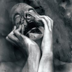 "How I feel inside.. while i've been ""locked away"".... The walls close in to loom over my decaying soul."
