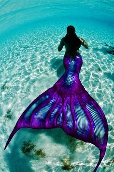 Purple & turquoise mermaid fairytale