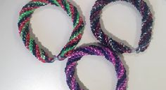 New Metallica Spiral Twist Bracelet Made On Monster Tail Loom - Loom n Bands - Pure Rainbow Loom Bliss!