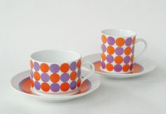 Unique vintage set of 2 Eschenbach cups and saucers by Coollect, €18.00