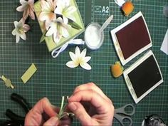 Punched paper Lily - YouTube