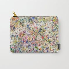 Abstract Artwork Colourful #7 | Different abstract artworks were painted to create interesting structures. #Painting #Decoration #Unique #Design #Abstract #Painting #Abstraction #watercolour  #watercolor #points #dots, #Art #Malerei #Colour #Color #Colourful #Colorful #Structure #Petrol #Society6 #Carryallpouch