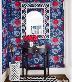 Madeline Weinrib Black & White Zig Zag Cotton Carpet in home of designer Ashley Whittaker, photo by Thomas Loof for House Beautiful