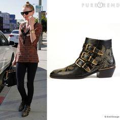 A peine rééditées, Kate Bosworth rehausse ses it-shoes : les boots Chloé, rebaptisées Susanna.