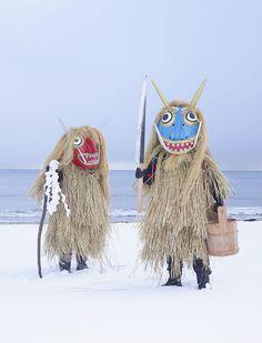 folkhorrorrevival: Photos by Charles Freger of Japanese Yokai. Arte Tribal, Tribal Art, Folklore Japonais, Charles Freger, Costume Ethnique, Art Premier, Scary Monsters, Akita, Puppets