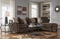 Chocolate Dahlen 2-Piece Sectional View 1
