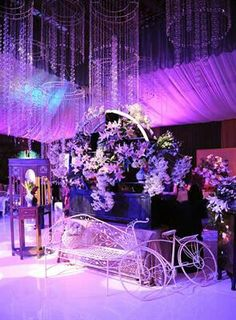 Platinum events full wedding event decor at the leicester tigers all about purple wedding decoration junglespirit Image collections