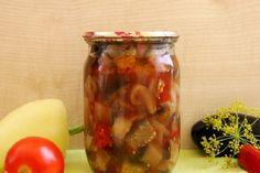 Cea mai bună salată cu vinete pentru iarnă - o rețetă simplă, ce a cucerit milioane! - Bucatarul Pickles, Cucumber, Mason Jars, Food, Jelly, Preserves, Essen, Mason Jar, Meals
