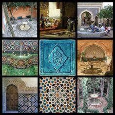 Hand made art tile for Moorish fountains  // Terra Home ceramics