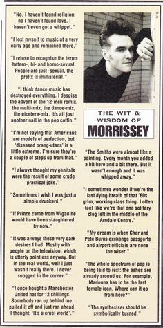 The Wit & Wisdom of Morrissey