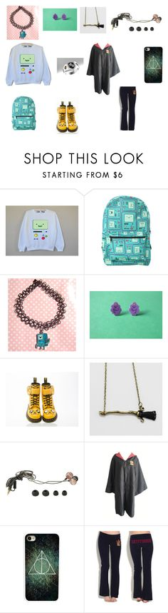 """Adventure time with Harry Potter"" by scorpio-queen ❤ liked on Polyvore featuring Hot Topic, Dr. Martens and CellPowerCases"