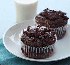 Les bananes Chiquita et le chocolat noir donnent naissance à ces muffins extrêmement savoureux.