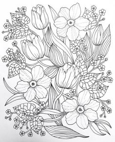 crewel and embroidery kits Flower Coloring Pages, Mandala Coloring Pages, Coloring Book Pages, Garden Coloring Pages, Crewel Embroidery, Embroidery Patterns, Embroidery Needles, Printable Adult Coloring Pages, Tattoo Studio