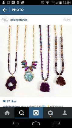Druzy handmade necklaces beautiful