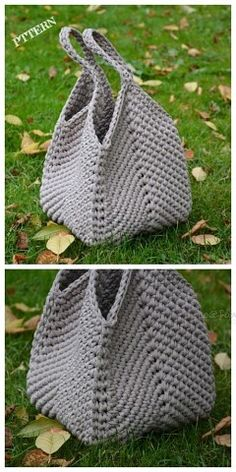 Free Crochet Bag, Crochet Market Bag, Crochet Granny, Crochet Bags, Crochet Squares, Crochet Beach Bags, Knit Crochet, Crochet Rope, Blanket Crochet