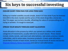 Abney Associates Team A financial advisory practice of Ameriprise Financial Services, Inc.: Six keys to successful investing