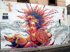 Kenta Torii: Mural en Board Dripper, Querétaro
