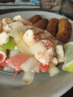 ensalada de pulpo: Octopus Salad - You can use this recipe, Its a good one. http://www.globalgourmet.com/food/egg/egg0196/octopus.html#axzz28SoIRg9E