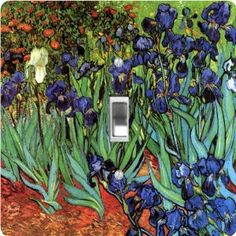 "Rikki KnightTM Van Gogh Art Irises - Single Toggle Light Switch Cover by Rikki Knight. $13.99. The Van Gogh Art Irises single toggle light switch cover is made of commercial vibrant quality masonite Hardboard that is cut into 5"" Square with 1'8"" thick material. The Beautiful Art Photo Reproduction is printed directly into the switch plate and not decoupaged which make these Light Switch Plates suitable for use in any room in the office, home, etc. etc.. These Light Switch Plates ..."