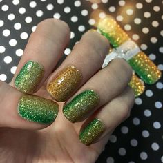 """Burdened with glorious purpose! The """"Demi-god Glory"""" variant of our Gradient nail wraps are perfect for the holidays! For those that enjoy a little mischief with their manicure! #EspionageCosmetics #NerdManicure #Nails #NerdNails #NailArt #NailWraps #HolidayNails #Loki #SparkleNails #GlitterNails"""