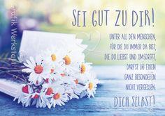 Sei gut zu dir! - Postkarten - Grafik Werkstatt Bielefeld