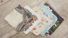 Vintage Shabby Chic 50s Handkerchiefs by SycamoreVintage on Etsy, $24.00