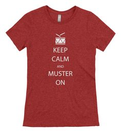 Keep Calm, Muster On T-Shirt