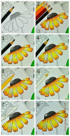 Desenhando gotas nos livros de colorir