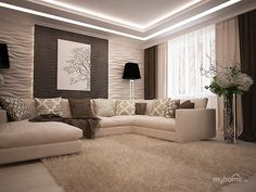 The Basic Facts of Minimalist White Winter Room Ideas In the event the room is to be used for professional purposes, attempt to prevent creating too domestic a style or you may discover that your work isn't taken seriously. Ceiling Design Living Room, Home Room Design, Living Room Designs, Elegant Living Room, Living Room Modern, Rugs In Living Room, Living Room Decor Inspiration, House Rooms, Room Ideas