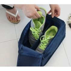 Buy Home Union Waterproof Travel Shoe Bag In Navy Blue Online - Footwear Organisers - Footwear Organisers - Homeware - Pepperfry Product Shoe Bags For Travel, Travel Shoes, Travel Accessories, Shoes Online, Navy Blue, Footwear, Stuff To Buy, Products, Shoe