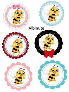 Cartoon Bee, Spelling Bee, Bottle Cap Images, Queen Bees, Animal Party, Vintage Paper, Classroom Decor, Applique, Projects To Try