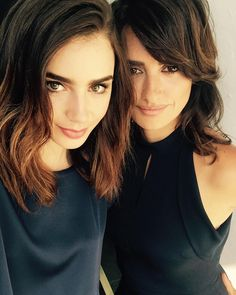 "Lily Collins on Instagram: ""Lancome sisters unite. Te quiero mucho @PenelopeCruzoficial..."""