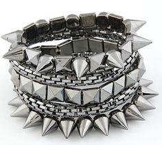 Domino Dollhouse - Plus Size Clothing: Punk Stack Bracelets