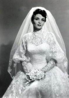 Lucy's cousin Actress Suzan Ball in her wedding gown for her marriage to actor Richard Long