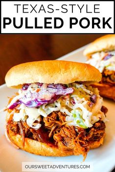 Learn how to make this SUPER EASY Slow Cooker Texas Pulled Pork. You can enjoy this BBQ meal as a sandwich, over nachos, inside tacos, and more. #Recipe #Crockpot #BBQ | Crock Pot Recipe | Pulled Pork | Barbecue | BBQ | Recipe Easy | Slow Cooker | How to Make | Easy | Smoked |