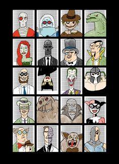Batman Bad Guys - Pop Culture Portraits by Curtis Rosenthal