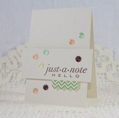 Handmade Greeting Card  Just a Note by EndlessInkHandmade on Etsy, $3.25