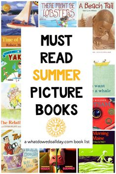 Kick off your summer reading list by sharing a variety of diverse summer picture books with your kids. Spend those lazy screen-free summer days, connecting with your family! Summer Books, Summer Reading Lists, Read Aloud Books, Good Books, Ya Books, Resource Room Teacher, Books Everyone Should Read, Children's Picture Books, Chapter Books