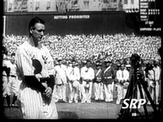 Greatest Sports Legends- Lou Gehrig's Farewell Speech - YouTube