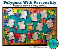 Clutter-Free Classroom: Polygons With Personality {A Common Core Math Project}