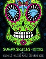 Sugar Skulls at Midnight Adult Coloring Book Volume 2 Animals Aliens A Unique Midnight Edition Black Background Paper Adult Coloring Book For Men Relaxation Stress Relief Art Color ** You can get more details by clicking on the image. Skull Coloring Pages, Coloring Books, Crane, Sugar Skull Design, Skull Illustration, Aliens, Artist Sketchbook, Green Watercolor, Bracelet Crafts