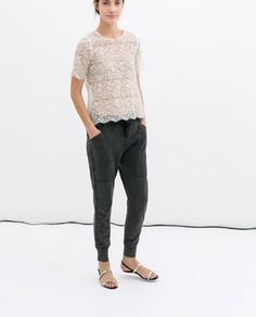 Image 1 of COTTON TROUSERS from Zara