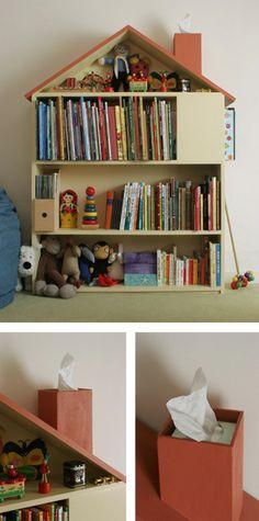 Dollhouse as bookshelf