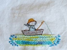 Image of Messing About in Boats Embroidery Pattern