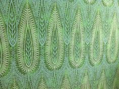 Vintage wallpaper mid century green leaf hand printed by modernist designer Jack Denst Sanderson 1960s Interior, Wall Stencil Patterns, Tree Patterns, Victoria And Albert Museum, Design Museum, Designer Wallpaper, Shades Of Green, Colorful Interiors, Light In The Dark